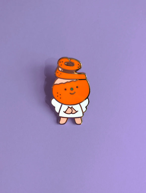 """Orange Peel"" Enamel Pin"