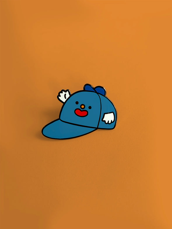 """Hat on Hat"" Enamel Pin"