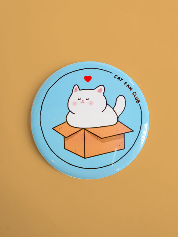 """Cat Fan Club"" Blue Magnet"