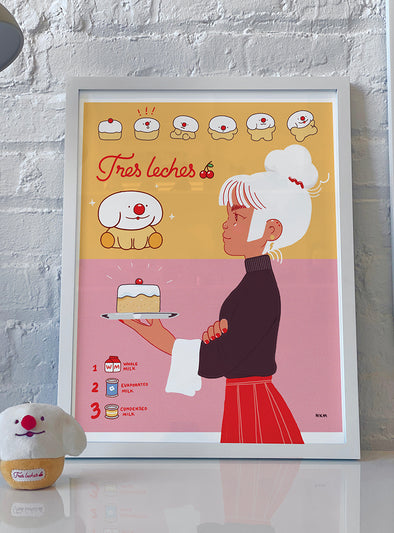 """Tres Leches"" 14x18 Poster"