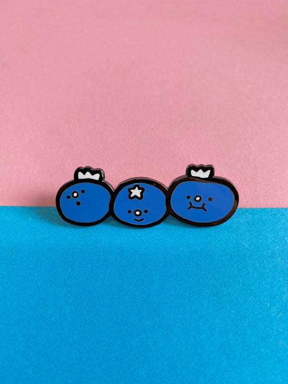 """Blueberries"" Enamel Pin"