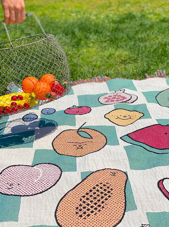 """The Picnic"" Throw blanket"