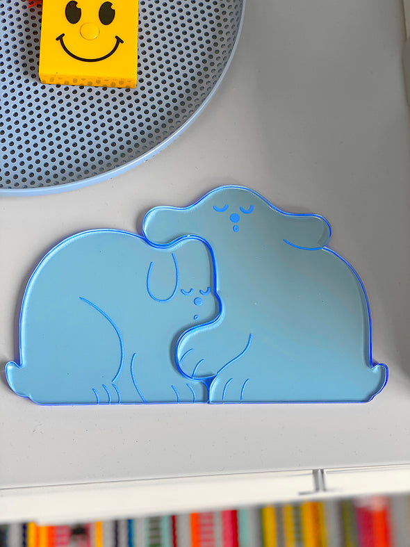 """Perfect Nap"" (DOGS) Set of two acrylic coasters"