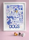 """DOGS"" 14""x18"" Poster"