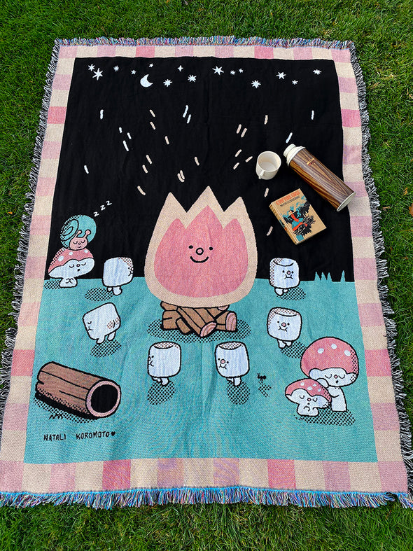"""Campfire"" Throw blanket"