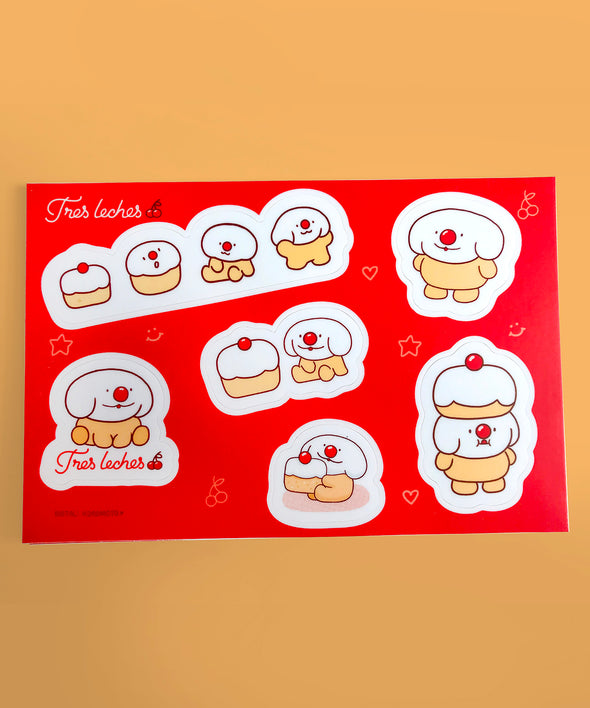 """Tres Leches"" Vinyl Sticker Sheet"