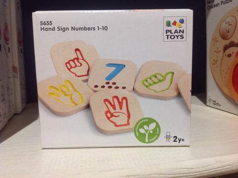 Plan Toys Hand Sign Number
