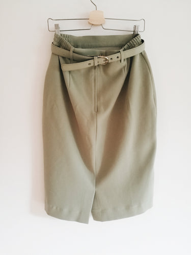 ARMY GREEN SKIRT WITH BELT