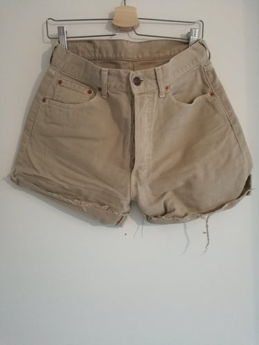 BEIGE LEVI'S DENIM SHORTS