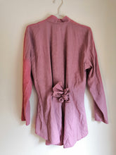DUSTY ROSE SILKY SHIRT/JACKET