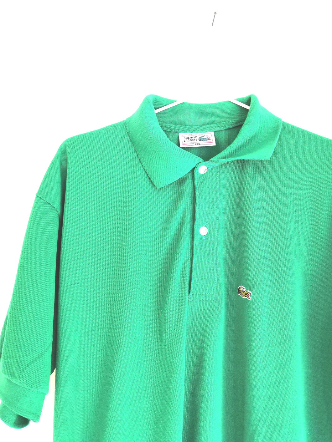 GREEN LACOSTE T-SHIRT
