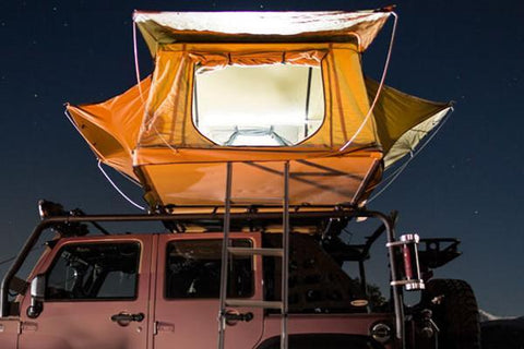 smittybilt roof top tent with led light