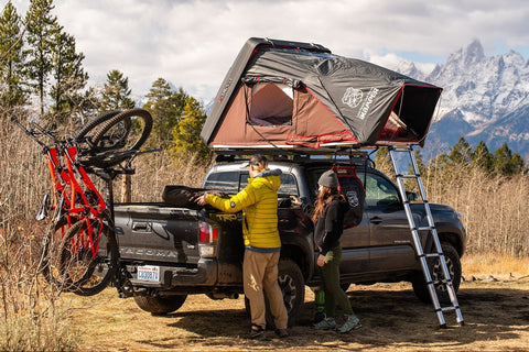 ikamper skycamp mini rooftop tent for toyota tacoma