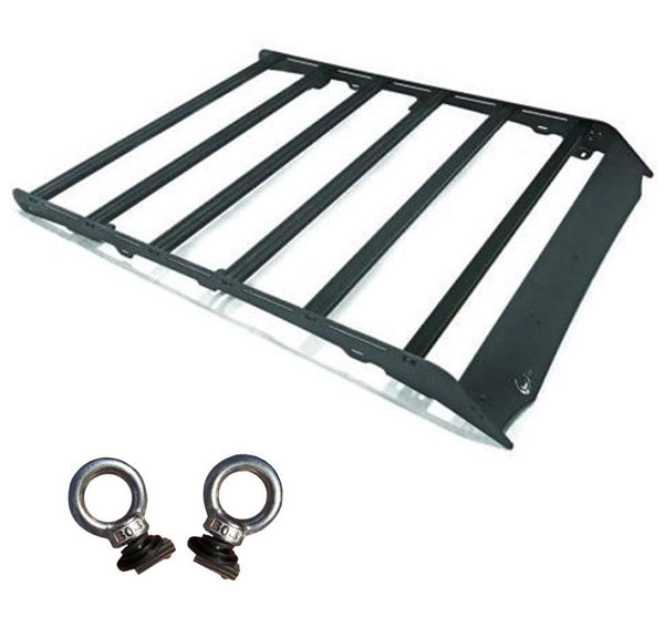 Prinsu Cab Rack for Toyota Tacoma 2005 - 2020 + 2 Tie Down Rings Bundle