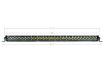 "Cali Raised LED 32"" Slim Single Row LED Bar (Amber Color)"