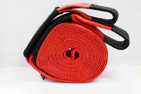 "Snatch Strap 15,000Kg (33,000 Lbs) - Red 4"" x 30"" - by TJM"