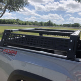 Cali Raised LED Toyota Tacoma Overland Bed Rack 2005-2020 Side View