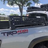 Cali Raised LED Toyota Tacoma Overland Bed Rack 2005-2020 Back-Side View