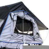 "Guana Equipment Nosara 55"" Roof Top Tent With Annex GE0003 Rolled Up Window View"