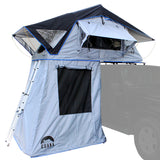 "Guana Equipment Nosara 55"" Roof Top Tent With Annex Side Front View GE0003"