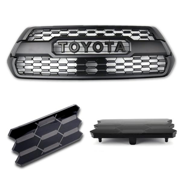 MC Auto Parts Front Grill W/ Garnish Sensor Cover For Tacoma TRD Pro 2016-2021