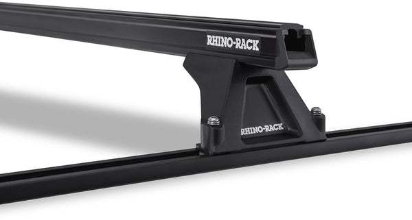 Rhino-Rack Heavy Duty RLTF Trackmount 2 Bar Roof Rack Black