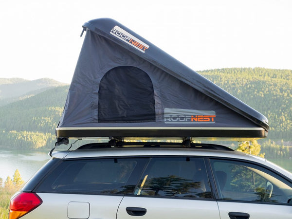 "Eagle Eye Hardshell Roof Top Tent - 81"" x 55"" W/Ladder And Mattress - by Roofnest"