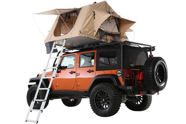 Smittybilt Overlander Roof Top Tent Side View