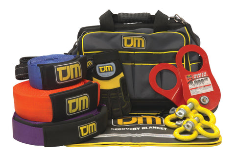 Heavy Duty Recovery Kit - Includes Straps, Bag, Gloves & More - by TJM