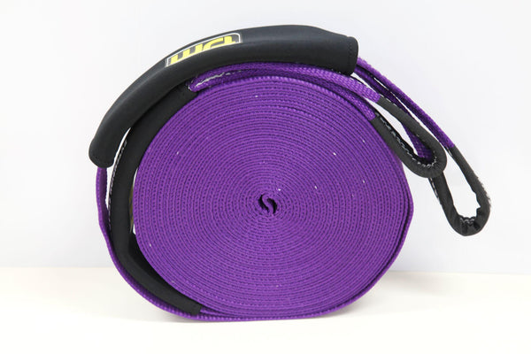 Winch Extension Strap - Purple, 20 Meters Long & 6,000 Kg (13,2000 Lbs) Strength Rating - by TJM