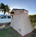 Wanaka Roof Top Tent With XL Annex By Guana Equipment Closed Annex