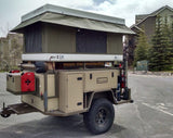BunduTop Hardshell RoofTop Tent by Bundutec, on a trailer