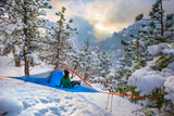 camping in the snow with Flite+ 2 Person Tree Tent - 10 Min Set Up - Lightweight - by Tentsile