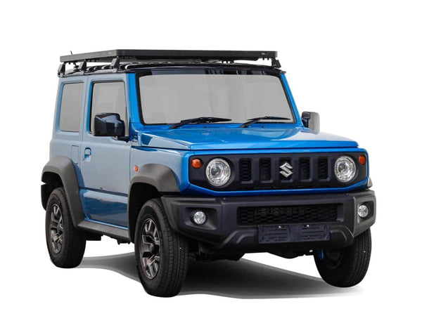 front view of Front Runner Slimline II Roof Rack / Tall For Suzuki JIMNY 2018-Current