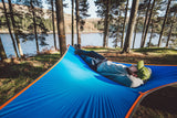 person lying on T-Mini Double Hammock - Lightweight - Fits 2 People - by Tentsile