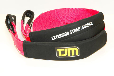 Winch Extension Strap - Pink & 10 Meters 4000kg Strength - by TJM
