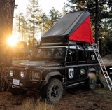 explorer roof top tent open by roost tents