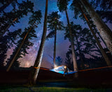 night view of Flite+ 2 Person Tree Tent - 10 Min Set Up - Lightweight - by Tentsile
