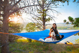 T-Mini Double Hammock - Lightweight - Fits 2 People - by Tentsile  person with a dog