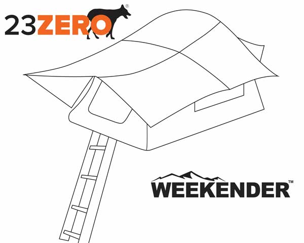 23Zero Weekender 72 California King Bed 4 Person Roof Top Tent