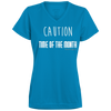 Caution Time Of The Month V-neck T-shirt