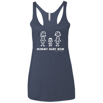 Mommy Baby Girl Mom Racerback Tank T-shirts
