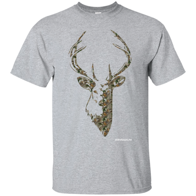 Deer Head Camo Short Sleeve T-shirt