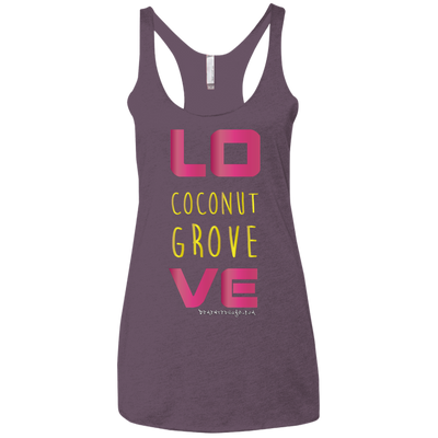Coconut Grove Love Dark Racerback Tank T-shirts