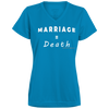 Marriage = Death V-neck T-Shirt