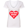 I'm Not With You Ladies' Deep V-Neck T-Shirt