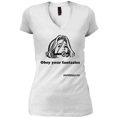Obey Your Fantasies V-Neck T-Shirt