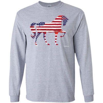 Flag Horse Long Sleeve T-Shirt