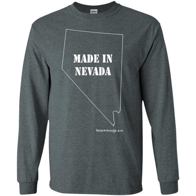 Made In Nevada Long Sleeve Dark T-shirts