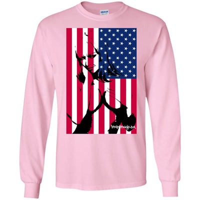 Girl Flag Long Sleeve Light T-Shirts